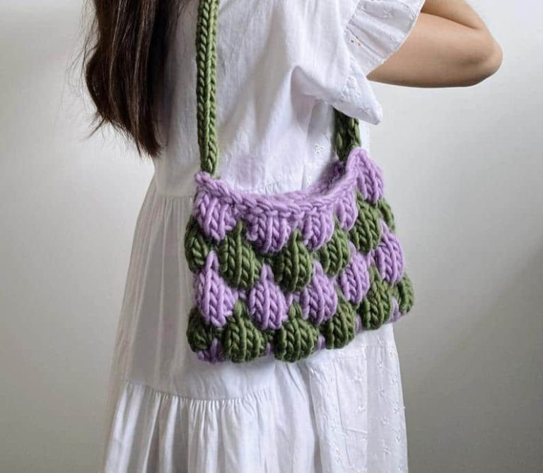 bubble bae knitted bag