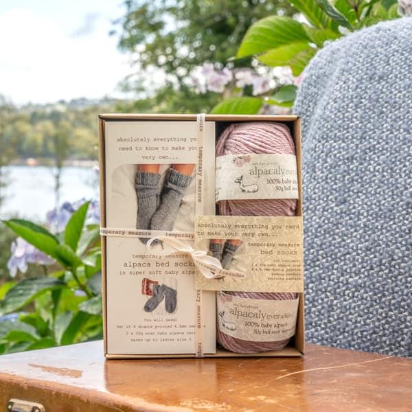 Alpaca Bed Socks Knitting Kit