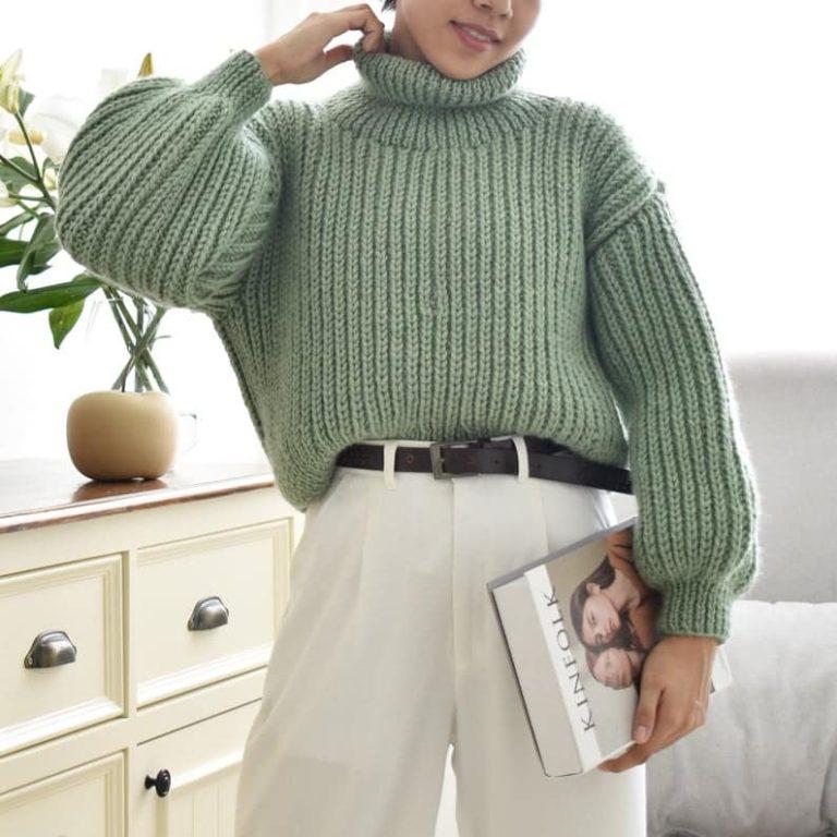 Easy Oversized Turtleneck Sweater