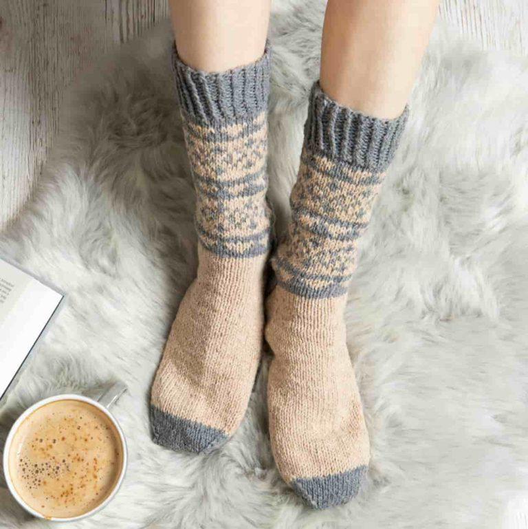 Fair Isle Socks Knitting Kit