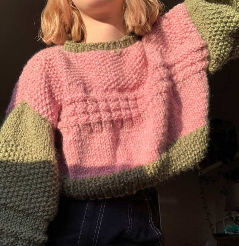 Hazy Skies Cropped Sweater Pattern