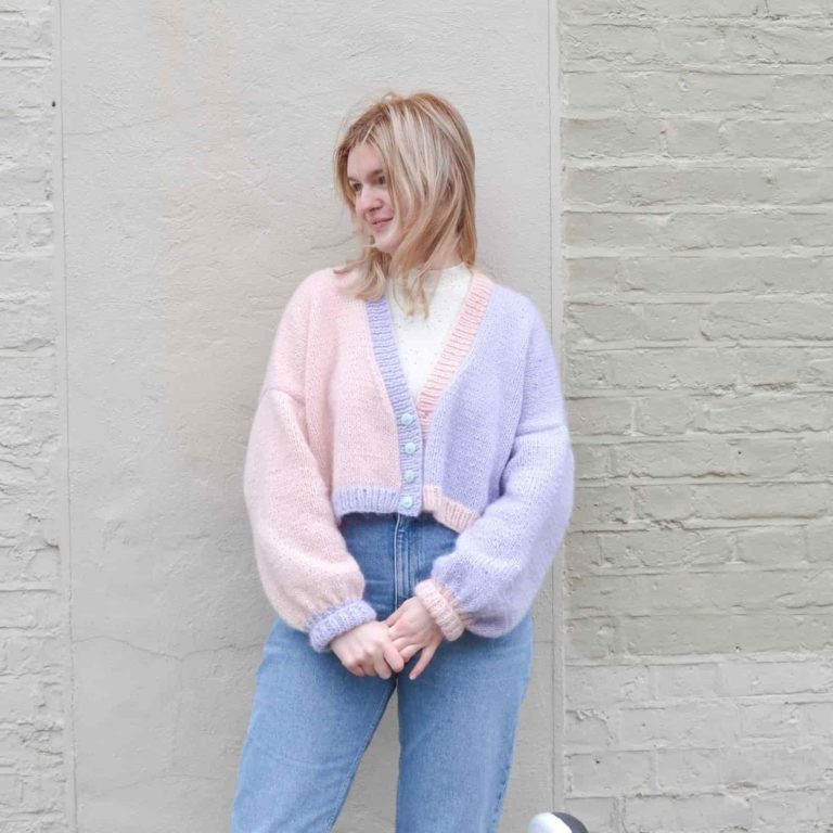 Cropped 80s Cardigan