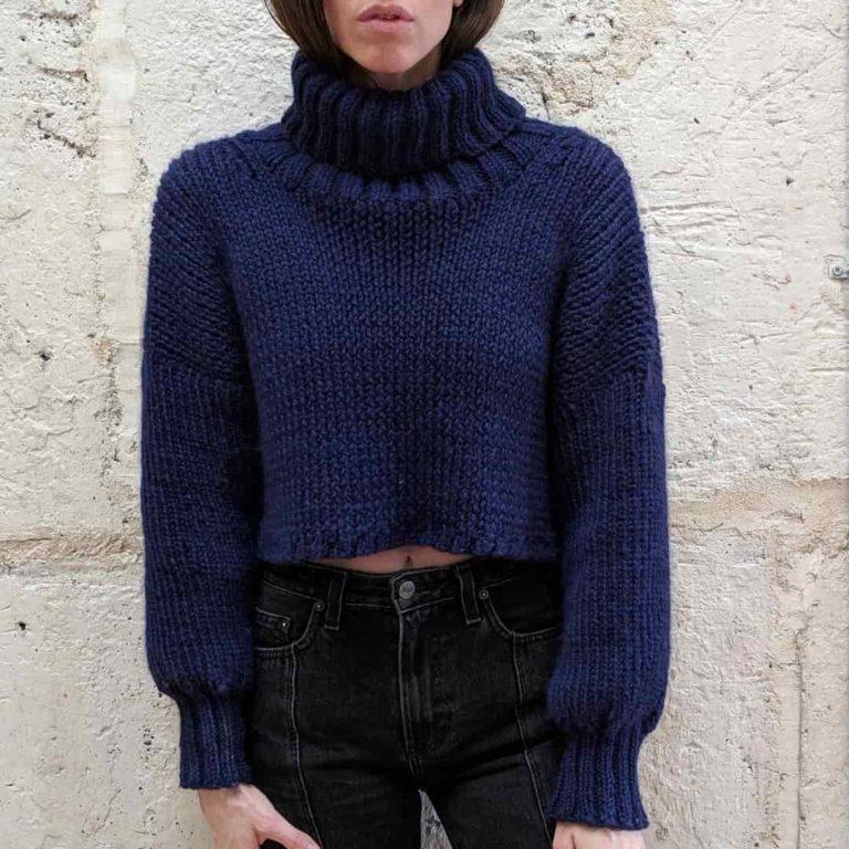 Olann Cropped Turtleneck Sweater