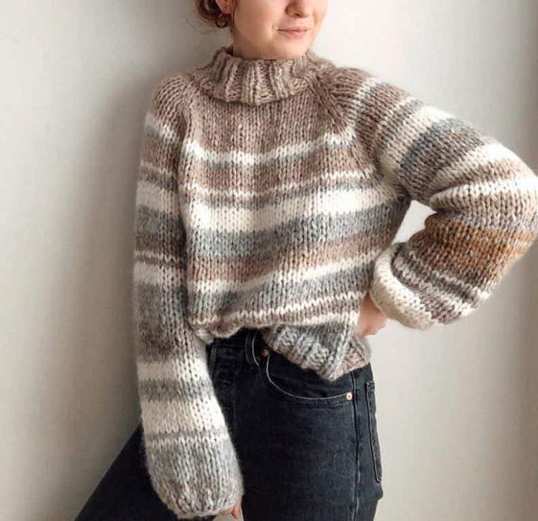 Raglan Turtleneck Sable Sweater