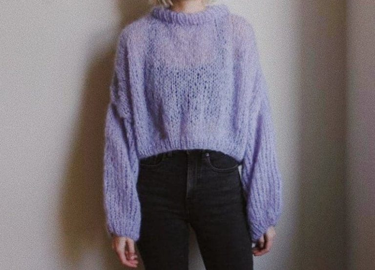 """""""Stay Home"""" Cropped Sweater Pattern"""
