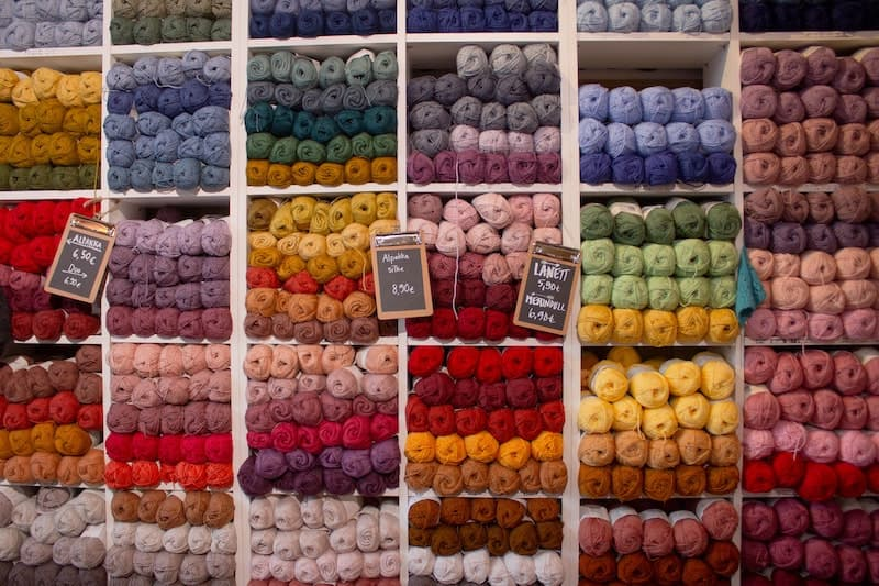 assorted yarn colors