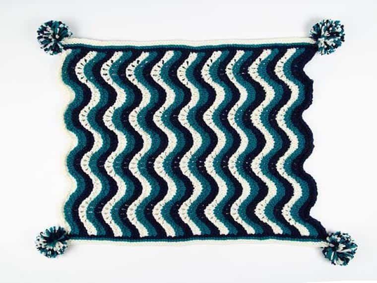 Baby Boy Waves Blanket