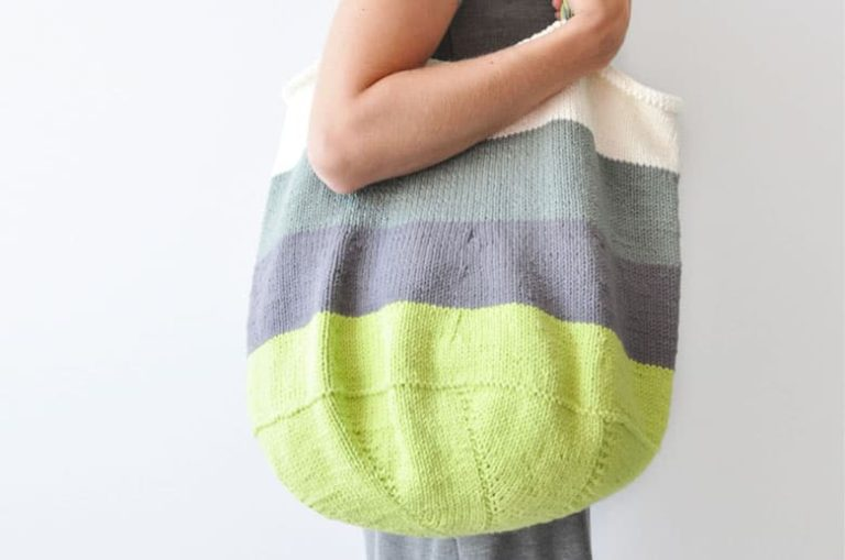 Free Knitted Tote Bag