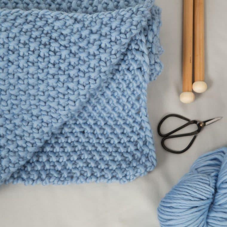 Louis Baby Blanket Knitting Kit