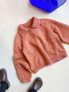 Stripe Overload polo sweater pattern